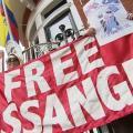 Seit Jahren haben immer wieder Demos zur Befreiung von Anssange stattgefunden (Bild: Videostill)
