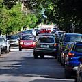 Begegnungsverkehr auf einer engen Straße in Pittsburgh (Foto: cmu.edu)
