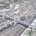 Satellitenbild der Morandi-Brücke in Genua (Foto: NASA/JPL-Caltech/Google)