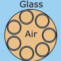 Skizze des optischen Hohlfaserleiters in neuem Design (Grafik: A. Iyer, ucf.edu)