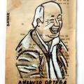 Amancio Ortega (Portätzeichnung auf altem Buchpapiervon Danor Shtruzman)