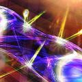 Künstlerische Illustration einer robusten Quantenverschränkung von zwei Lichtteilchen (Photonen). © ÖAW/Harald Ritsch