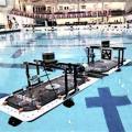 Roboats nach erfolgreichem Koppelmanöver im Schwimmbad (Foto: mit.edu)