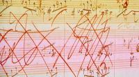 Skizze aus der mit künstlicher Intelligenz fertig gestellten 10. Sinfonie von Beethoven. Foto: Iris Schröder/Deutsche Telekom