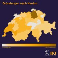 Firmengründungen nach Kantonen (Bild: IFJ)