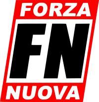 Das Parteilogo der neofaschistischen Partei Forza Nuova