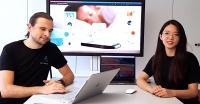 Resmonics-Mitgründer Peter Tinschert und Iris Shih (Bild: Still aus Venture-Kick-Video)